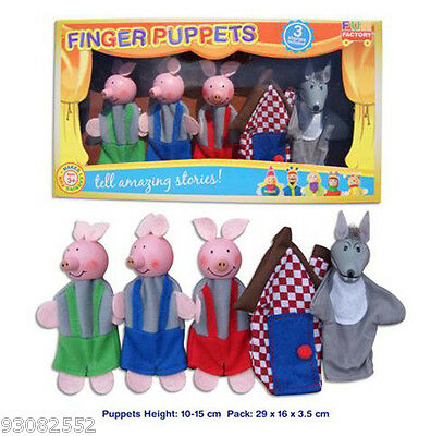 Finger Puppets - 3 little Pigs  5 characters by Fun factory
