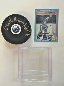 Buffalo-Sabre-Dave-the-Hammer-Schultz-Signed-Puck-Case-Hockey-Card