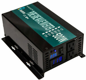 Pure Sine Wave Power Inverter 500W Solar Inverter 12V DC to 120V AC Converter