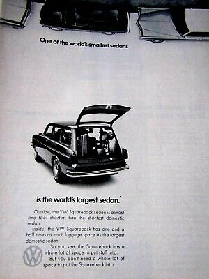 1968 Volkswagen Squareback Car With Computer In it Original Print Ad 8.5 x 11/""