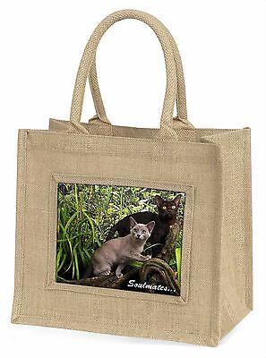 Burmesische Katzen Soulmates Stimmung Große Natürliche Jute-einkaufstasche Ch,