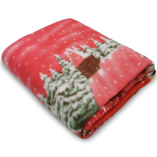 2x Kuscheldecke Weihnachten 130x160 Wohndecke Fleecedecke Tagesdecke Sofadecke