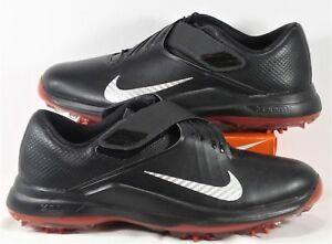 Nike TW 2017 Tiger Woods Black   Red Mens Golf Shoes Sz 7.5 NEW ... b89df958b
