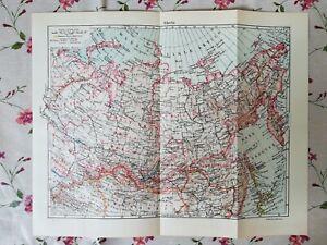Cartina Urss.Tavola Geografica Cartina Siberia Russia Urss 1967 Ebay