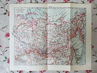 Cartina Siberia Russia.Tavola Geografica Cartina Siberia Russia Urss 1967 Ebay