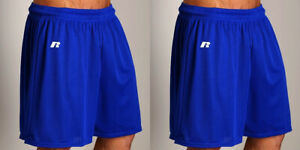 """2 PRS Men 2XL Russell Athletic Cardinal Red 7/"""" Sport Gym Mesh Shorts 40-44/"""" NWT"""