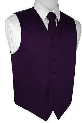 Men's Lapis Satin Tuxedo Vest, Tie & Hankie Set. Formal, Dress, Wedding, Prom