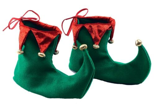 ELF FAIRY PIXIE GNOME MEDIEVAL JESTER SHOES FANCY DRESS COSTUME SHOE COVERS NEW