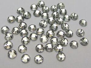 1000-Clear-Flatback-Acrylic-Sewing-Round-Rhinestone-Gems-5mm-Sew-on-beads
