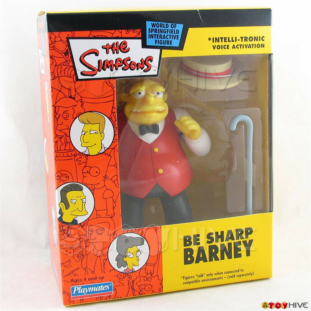 Simpsons WoS Mail-Away Be Sharp Barney playmates figure mail away exclusive