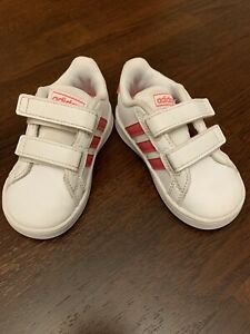 Toddler Girl Adidas Grand Court Sneaker Shoes Size 5.5