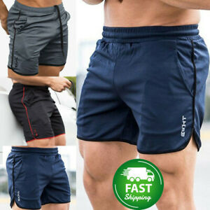 Casual-Men-039-s-GYM-Shorts-Training-Running-Sport-Workout-Jogging-Pants-Trousers-b5