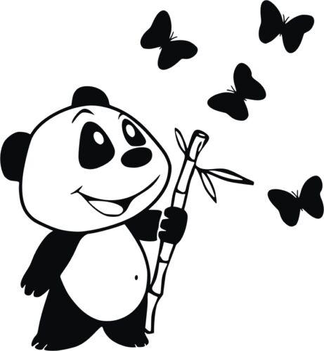 Sticker Vinilo Pegatina  -Wall Decall Oso Panda Escoge color y tamaño