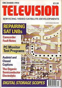 Television Magazine December 1994  A Serviceman039s Guide to Oscilloscopes - Northumberland, United Kingdom - Television Magazine December 1994  A Serviceman039s Guide to Oscilloscopes - Northumberland, United Kingdom