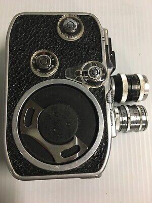 Functional Kern Paillard Bolex B8 8mm Cine Camera Vintage Mid Century