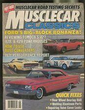 MUSCLECAR CLASSICS MAGAZINE AUGUST 1987 FORDS BIG-BLOCK BONANZA TESTING SECRETS