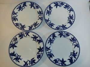 Pier-1-Imports-Beautiful-8-1-2-034-Salad-Plates-Ming-Porcelain-Set-of-4