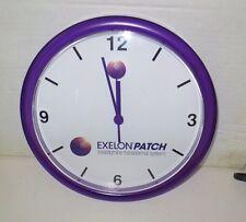 Exelon Patch Purple Plastic Wall Clock Drug Rep Advertising
