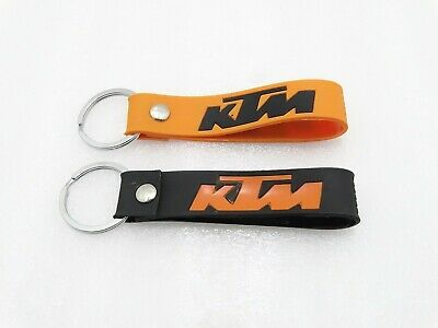 Temperate New Ktm Key Chain/ring Pair Orange & Black @z90@pummy Punctual Timing both Side Logo