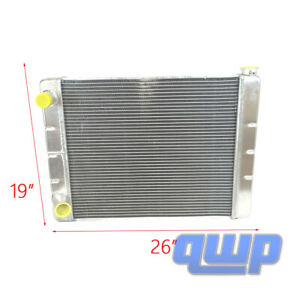 "2 Row Universal Fabricated Aluminum Racing Radiator For Ford Mopar 24/"" x19/"" x3/"""
