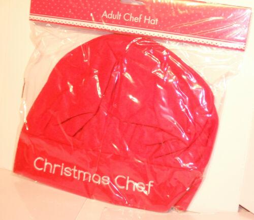 Adultes Noël Chef Chapeau /& Santa/'s Helper Déguisement Nouveauté Santa Choix de 3