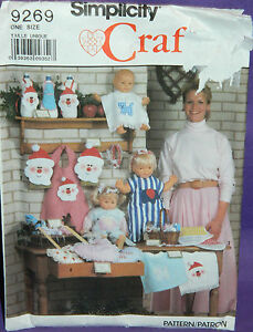 UC-Simplicity-Craft-Christmas-Bazaar-Items-Pattern-9269-Bib-Santa-Bottle-Cover
