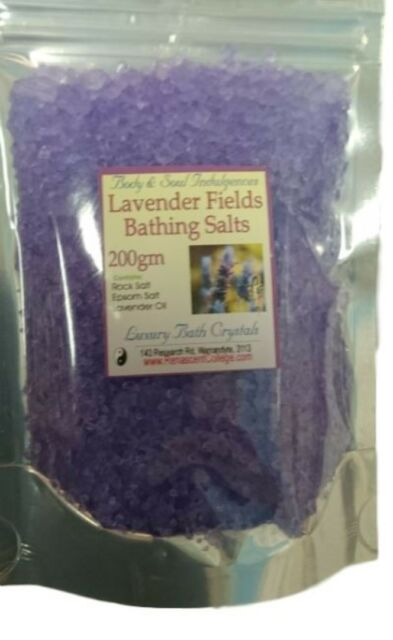 BATH SALTS LAVENDER FIELDS Herbal Petals & Essential Oils Relaxation