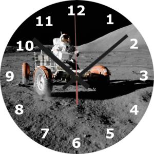 Horloge murale Lune 25 cm voyage spatial Apollo astronaute Science Buggy 876