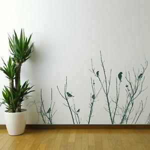 Oiseaux-Arbre-Branch-Wall-Art-Autocollant-Large-Vinyle-Transfert-Graphique-Autocollant-Decoration
