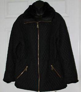 Faux Jakke Sort WMS Fur M Metropolitan W Quiltet PtxXqzzw