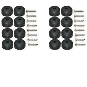 set of 16 guitar speaker rubber feet 1 x 1 2 screws metal washer built in ebay. Black Bedroom Furniture Sets. Home Design Ideas