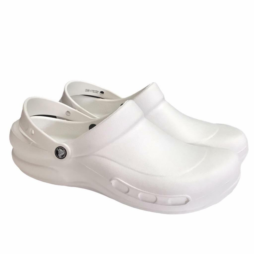 Crocs Mens 12 Womens 13.5 Specialist Clogs Shoes White Rubber Slip On NEW