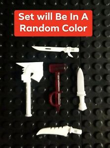 Custom Cast in Random Color 5 Midieval weapons compatible with Mega Construx