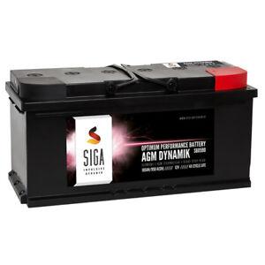 siga agm dynamik autobatterie 105ah 12v start stop. Black Bedroom Furniture Sets. Home Design Ideas