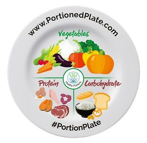 Portion-Control-Plate-Weight-Loss-Adult-Healthy-Eating-Cook-Meal-Measure-Diet
