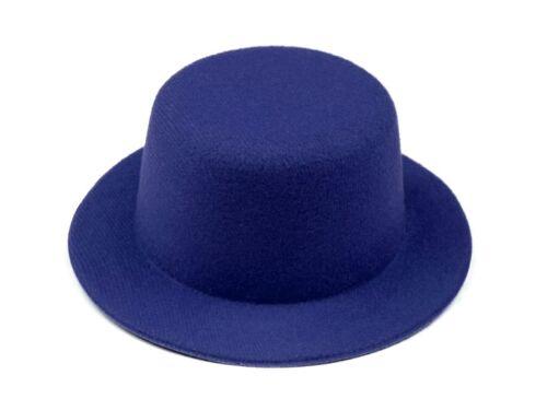 1 Mini Hütchen Mini Hut Hütchen Fasching Fascinator 13,5cm Karneval viele Farben