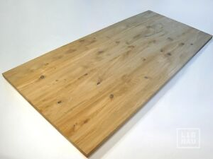Massivholzplatte-Tischplatte-Arbeitsplatte-Esstisch-Wildeiche-Rustikal-40mm-roh