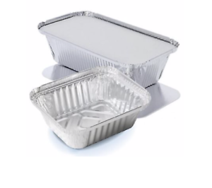 ALUMINIUM FOIL FOOD CONTAINERS WITH LIDS FOR HOME TAKEAWAY USE *FULL BOX OFFERS*