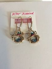 "$35 Betsey Johnson  ""Spider Lux  Shaky Crystal Spider Drop Earrings BSS8"