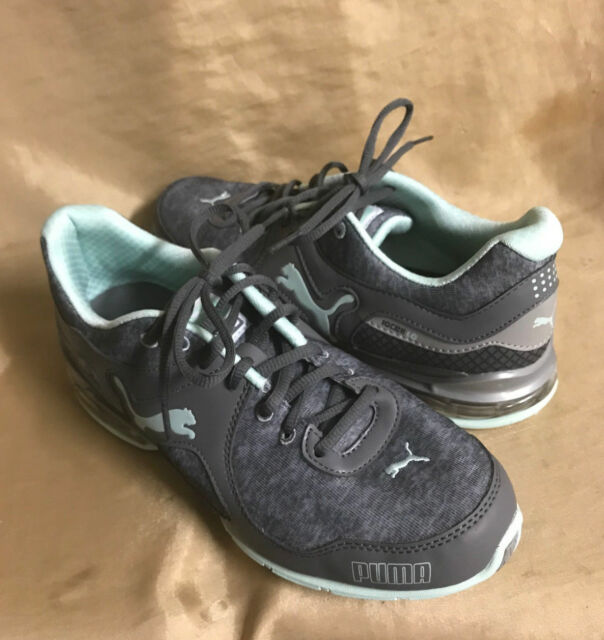 PUMA Cell Riaz WOMENS SIZE 6.5 Running Athletic green   gray lace-up shoes 450b6ce6d