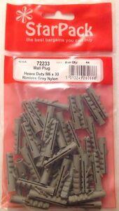 Wall Plugs Heavy Duty M5 x 25 Rimless Nylon Raw Plug Approx 40 No:72232