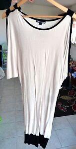 Robe-pull-MILLENIUM-moulante-bige-et-noire-taille-36-38