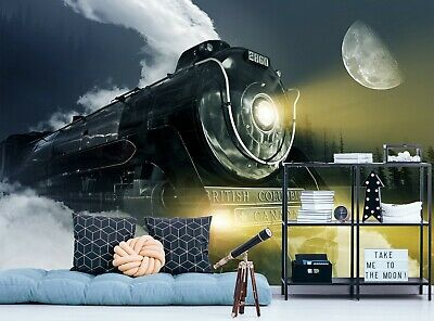 3D Black Sports Car P01 Transport Wallpaper Mural Self-adhesive Removable Zoe