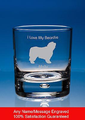Border Collie Dog Whisky Glass Dog Gift Personalised Engraved Whiskey Tumbler