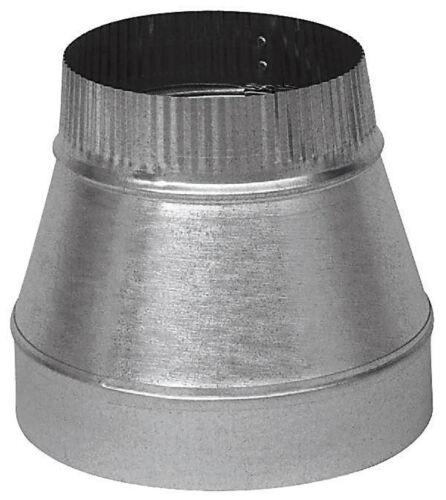 """Galvanized Steel Stove Pipe Increaser 24 Gauge GV1416 Imperial 5/"""" Dia x 4/"""" Dia"""