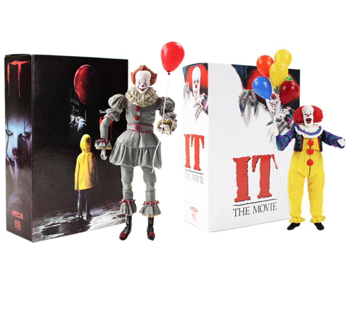 IT Clown Movie Villain Collection Classic Figure Model New Pennywise Balloon New