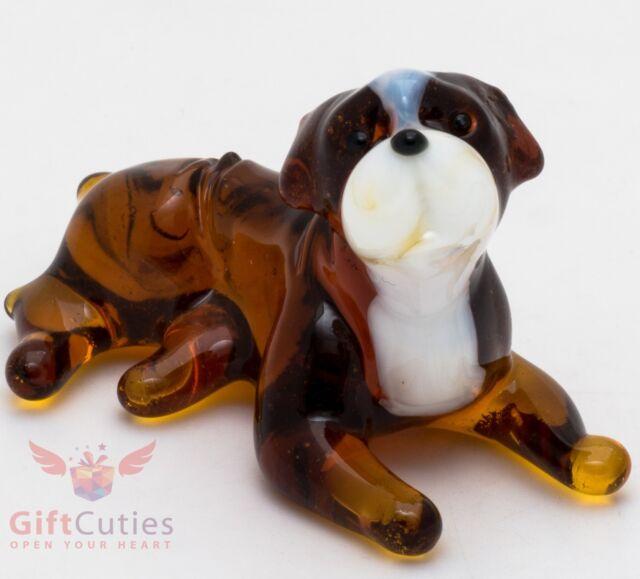 Glass Dog Ornament ENGLISH BULLDOG w//Antlers Dog Breed Christmas Ornament