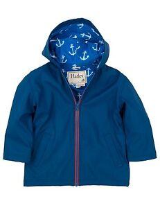 9441cc094 BNWT  Hatley Boys Navy Blue Anchor Splash Coat Raincoat Rain Coat ...