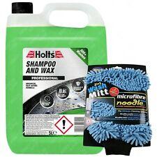 Holts Car Shampoo & Wax Streak Free Wash Polish Shine 5L + Microfibre Wash Mitt