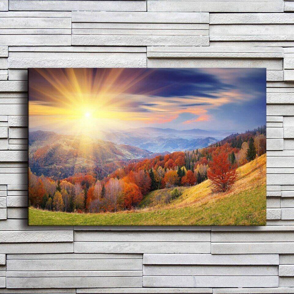 1 Piece Natural Landscape Bilds Wand Kunst Canvas Painting Druckens Modular Hang